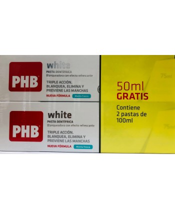 PHB DUPLO PASTA DENTAL WHITE 2*100 ML
